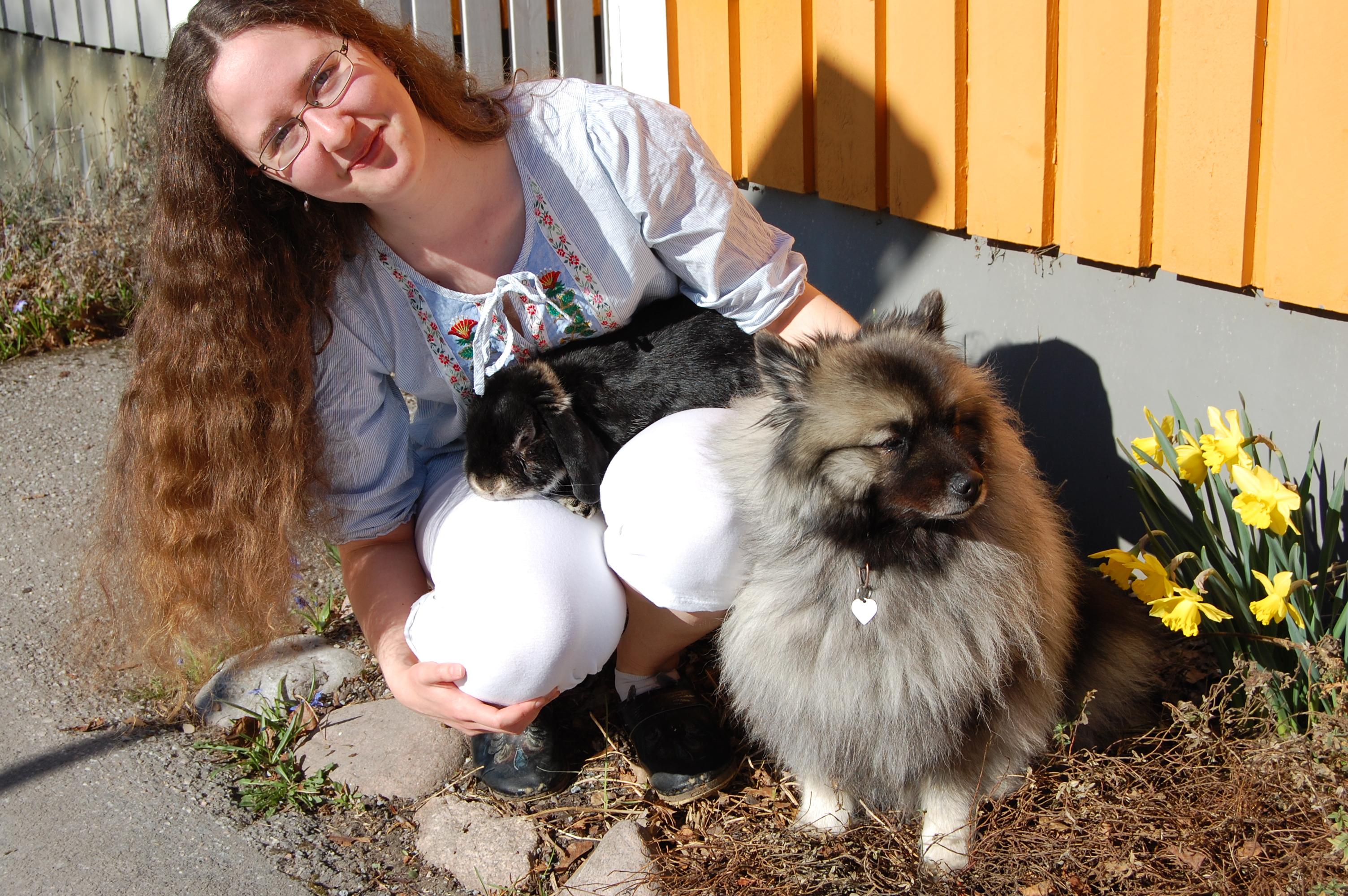 Jag med hunden silva och kaninen Jumjum