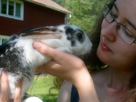 Jag och kaninunge
